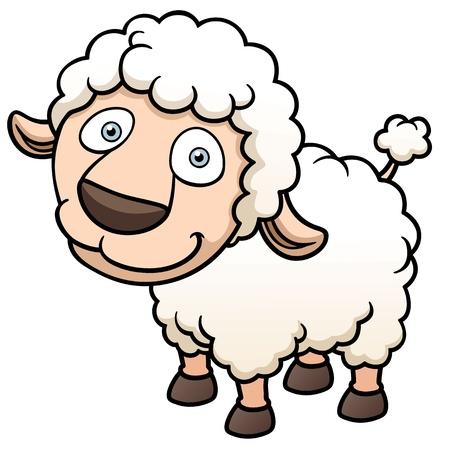 mouton cartoon: Vector illustration d'un mouton de bande dessin�e Illustration