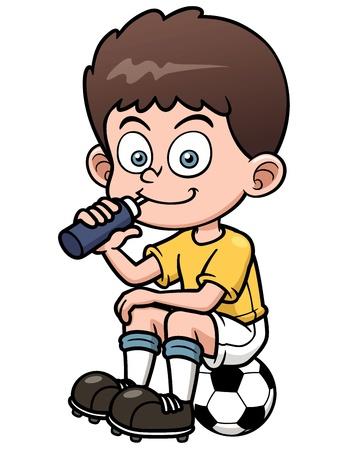 boys soccer: Illustration Soccer player