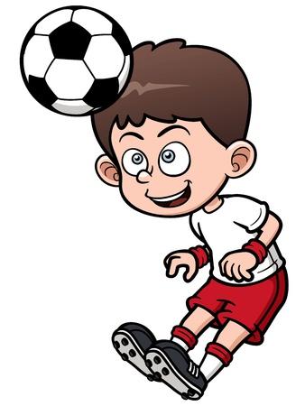 pelota caricatura: Ilustraci�n del jugador de f�tbol