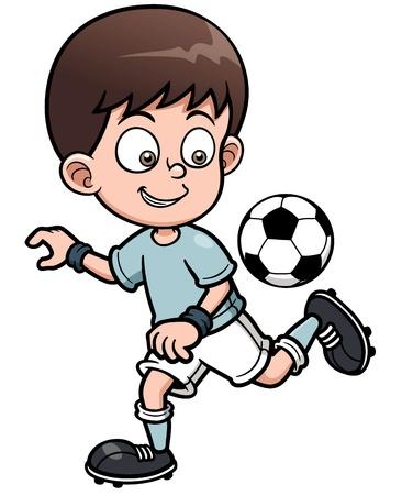 pelota caricatura: Ilustraci?n del jugador del F?tbol