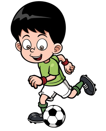 illustration Soccer player 向量圖像