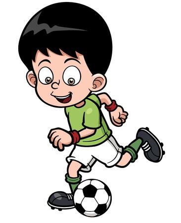 pelota caricatura: Ilustraci?el jugador del F?l Vectores