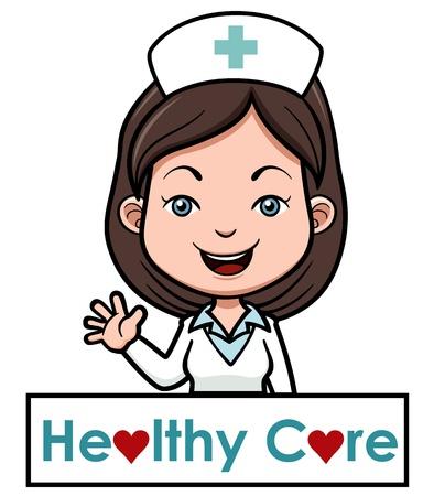 여성 간호사의 그림
