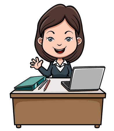 illustration of A business woman cartoon Vector