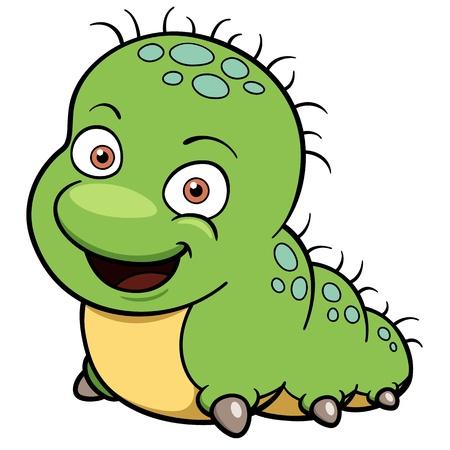 caterpillar cartoon: illustration of Cartoon worm Illustration