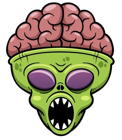 Vector illustration of Alien cartoon Vector