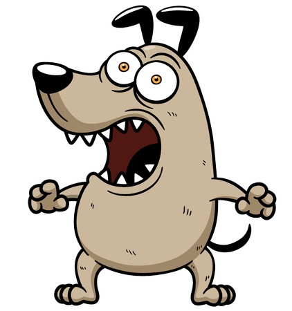angry dog: Ilustraci?n vectorial de Angry Dog Vectores