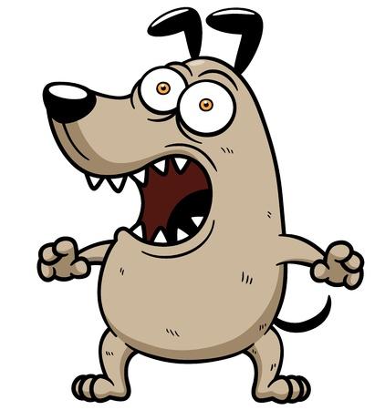 perro furioso: Ilustraci?n vectorial de Angry Dog Vectores