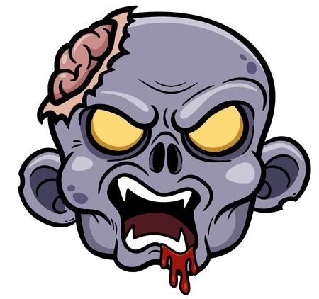 Vector illustration of Cartoon zombie Stock Illustratie