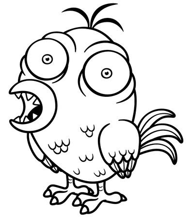 Ilustración Del Vector Del Pájaro De Dibujos Animados - Libro Para ...