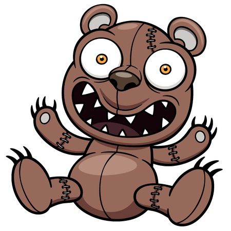 angry teddy: Vector illustration of Teddy bear Illustration