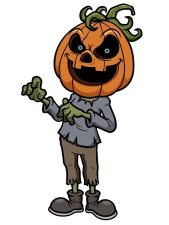 Vector illustration of Halloween pumpkin monster Stock Vector - 22019748