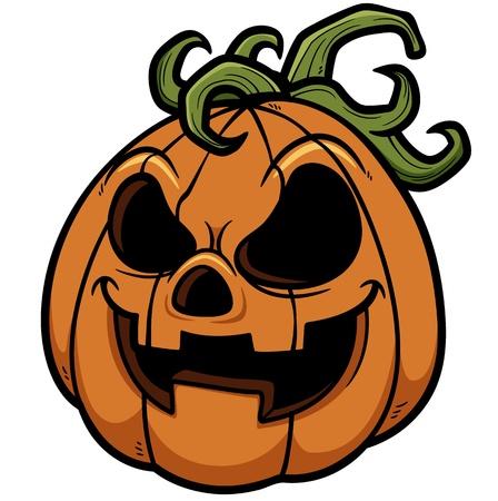 frightful: Vector illustration of Halloween pumpkin