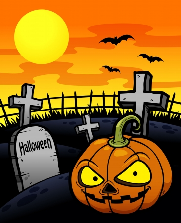 Vector illustration of Halloween Pumpkin background Vector