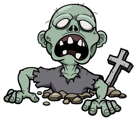 Vector illustratie van Cartoon zombie