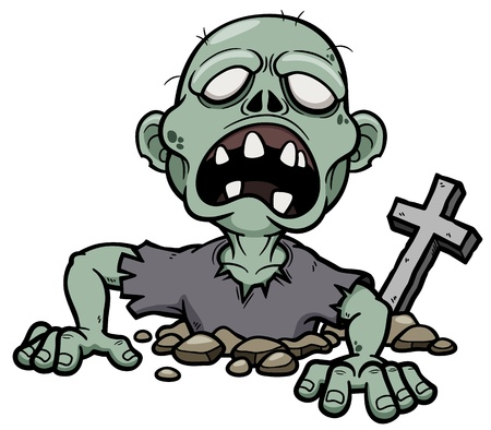 Vector illustration of Cartoon zombie Vector