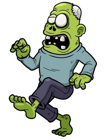 Vector illustration of Cartoon Zombie walking Vector