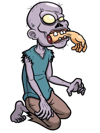 Ilustración vectorial de Zombie Cartoon Foto de archivo - 22731030