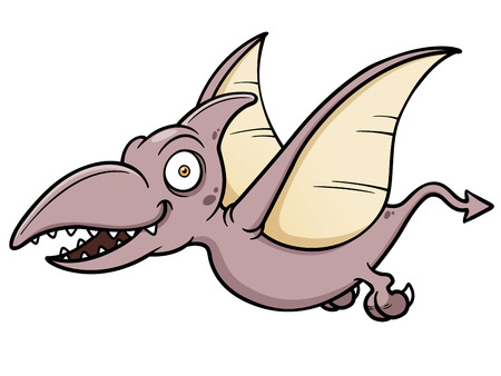 Vector illustration of Cartoon pteranodon Vector