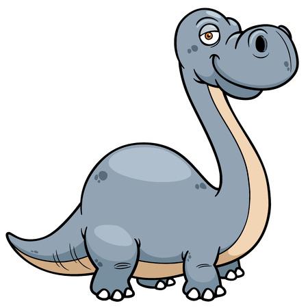 carboniferous: Vector illustration of Dinosaur Cartoon