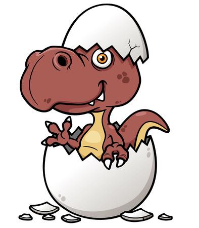 dinosaurio caricatura: Ilustración vectorial de bebé dinosaurio de la historieta Vectores