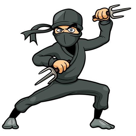 shuriken: Ilustraci�n del vector de Ninja Cartoon Vectores