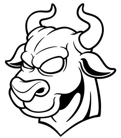 dominate: vector illustration Head Bull