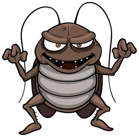 漫画のゴキブリのベクトル イラスト  イラスト・ベクター素材