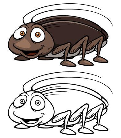 cockroach: Vector illustration of cartoon cockroach Illustration