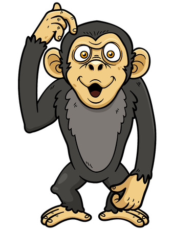 Vector illustration of cartoon monkey Vector