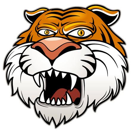 Vector illustration of Tiger head Vector