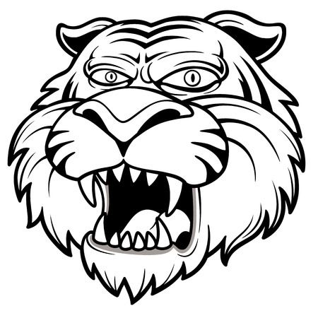 Vector illustration of Tiger head Stock Vector - 24193379
