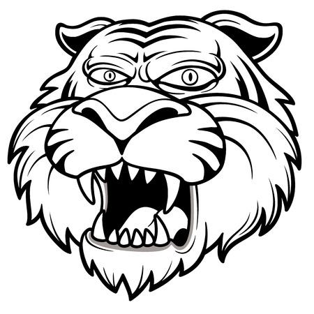Vector illustration of Tiger head Stock Vector - 24193379