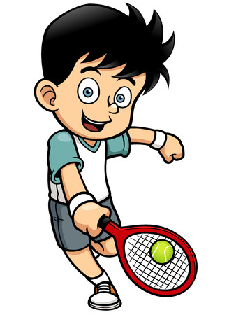 brave of sport: Vector illustration of Tennis Player