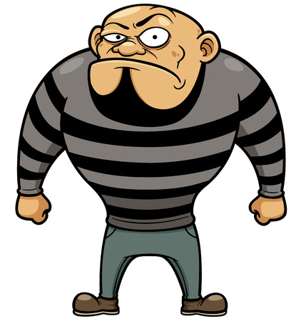 swindler: Vector illustration of Cartoon Prisoner