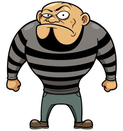 gefangener: Vektor-Illustration von Cartoon Prisoner