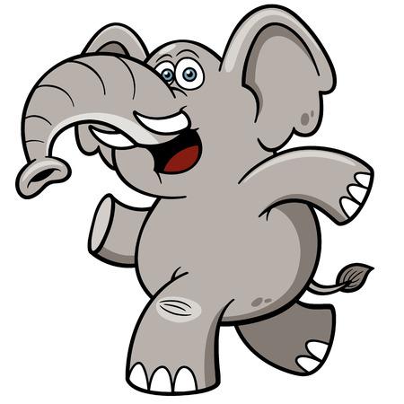 Vector illustration of Cartoon Elephant Иллюстрация