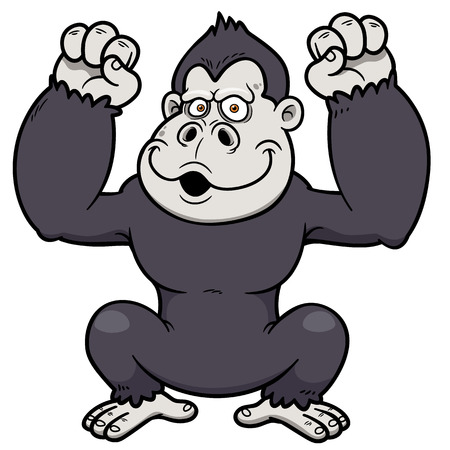 Vector illustration of Gorilla Cartoon Vector