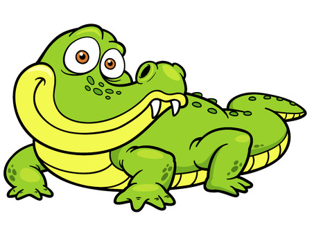 caiman: Vector illustration of Cartoon crocodile Illustration