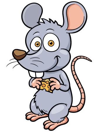 vector illustration of cartoon rat Vector