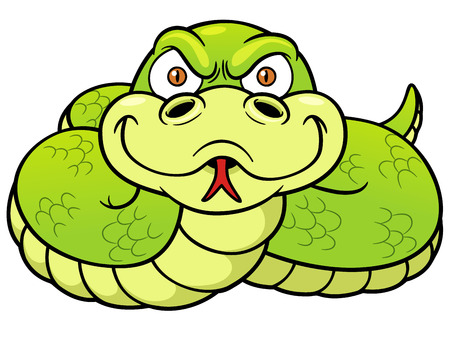 viper: Vector Illustration of Cartoon Snake Illustration