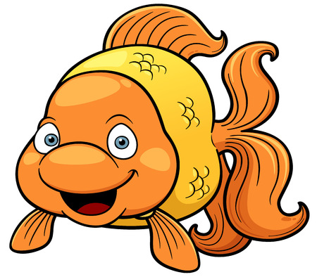 peces de colores: Ilustración vectorial de dibujos animados de peces de colores Vectores