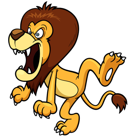 lion roar: Vector illustration of Cartoon lion