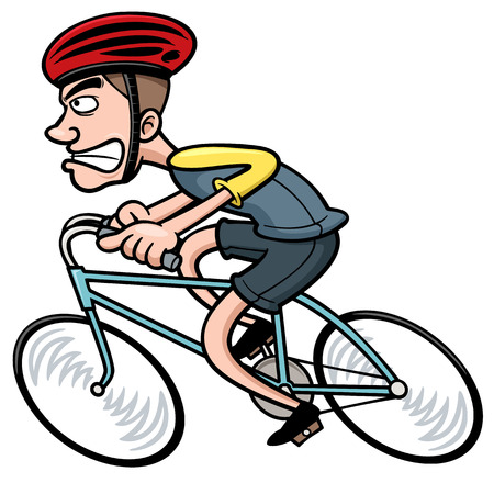 Vector illustration of Cartoon Cyclist Illustration