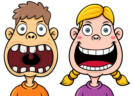 Vector illustration of Kids decayed tooth Vector