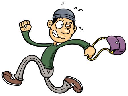 escaping: Vector illustration of thief running Illustration