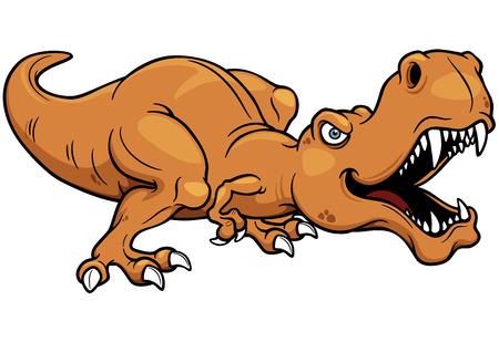 dinosaur teeth: Vector illustration of cartoon dinosaur