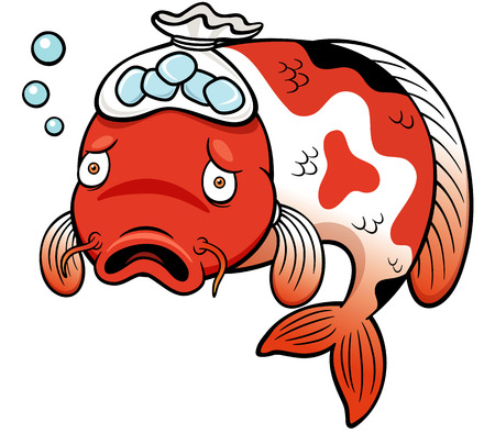 be ill: Vector illustration of Fish sick cartoon Illustration
