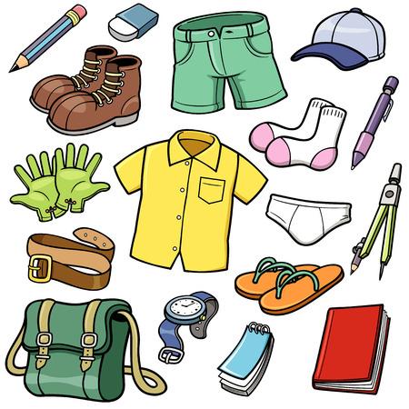 Ilustración vectorial de la ropa fijada Foto de archivo - 25959601