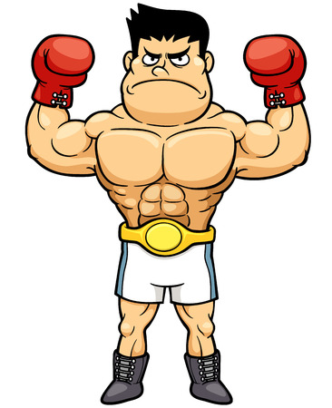 male boxer: Vector illustration of Boxing champion
